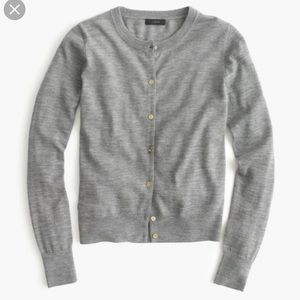 Lightweight wool cardigan sweater